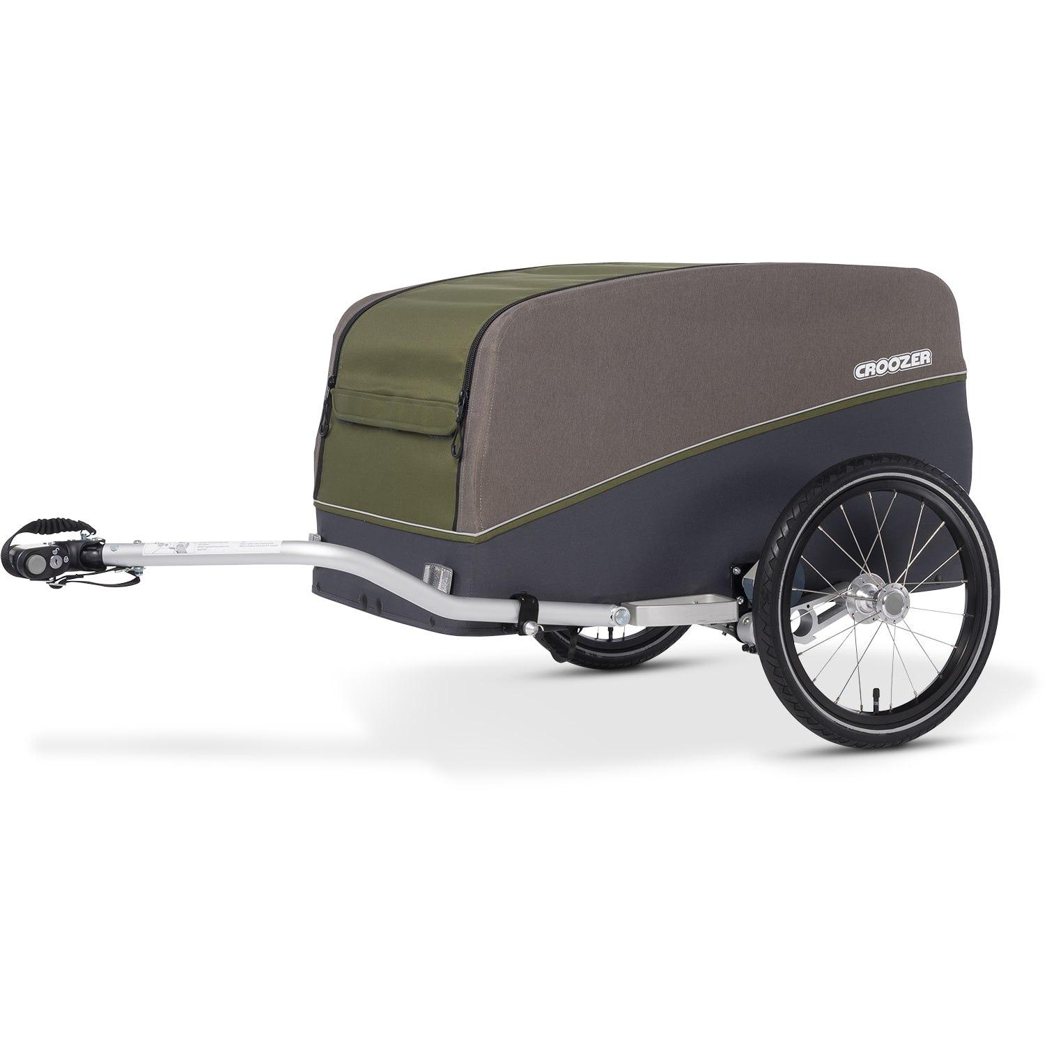 Foto de Croozer Cargo Tuure - Remolque de carga para bicicletas - olive green