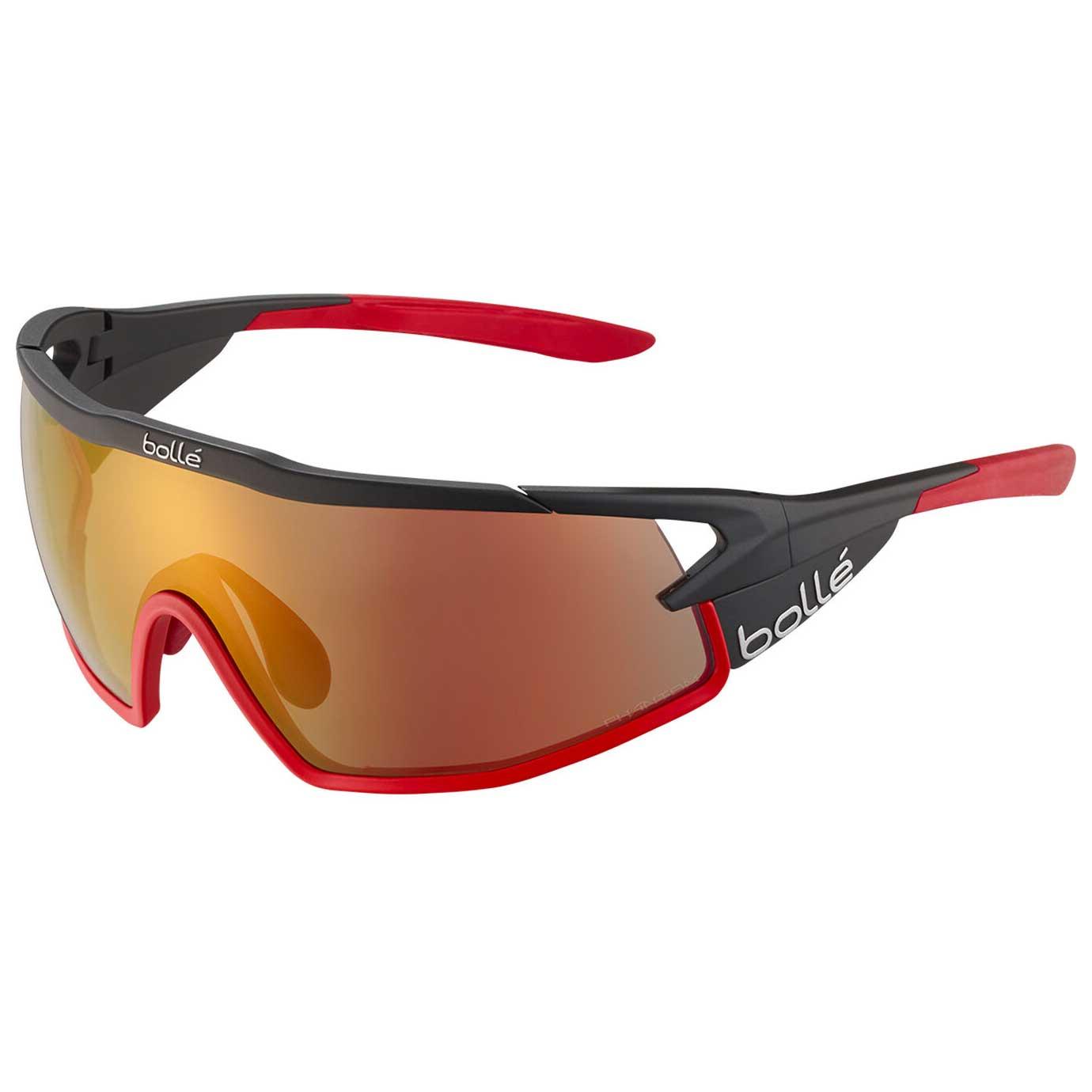 Bollé B-Rock Pro Sunglasses - Matte Black - Phantom Brown Red