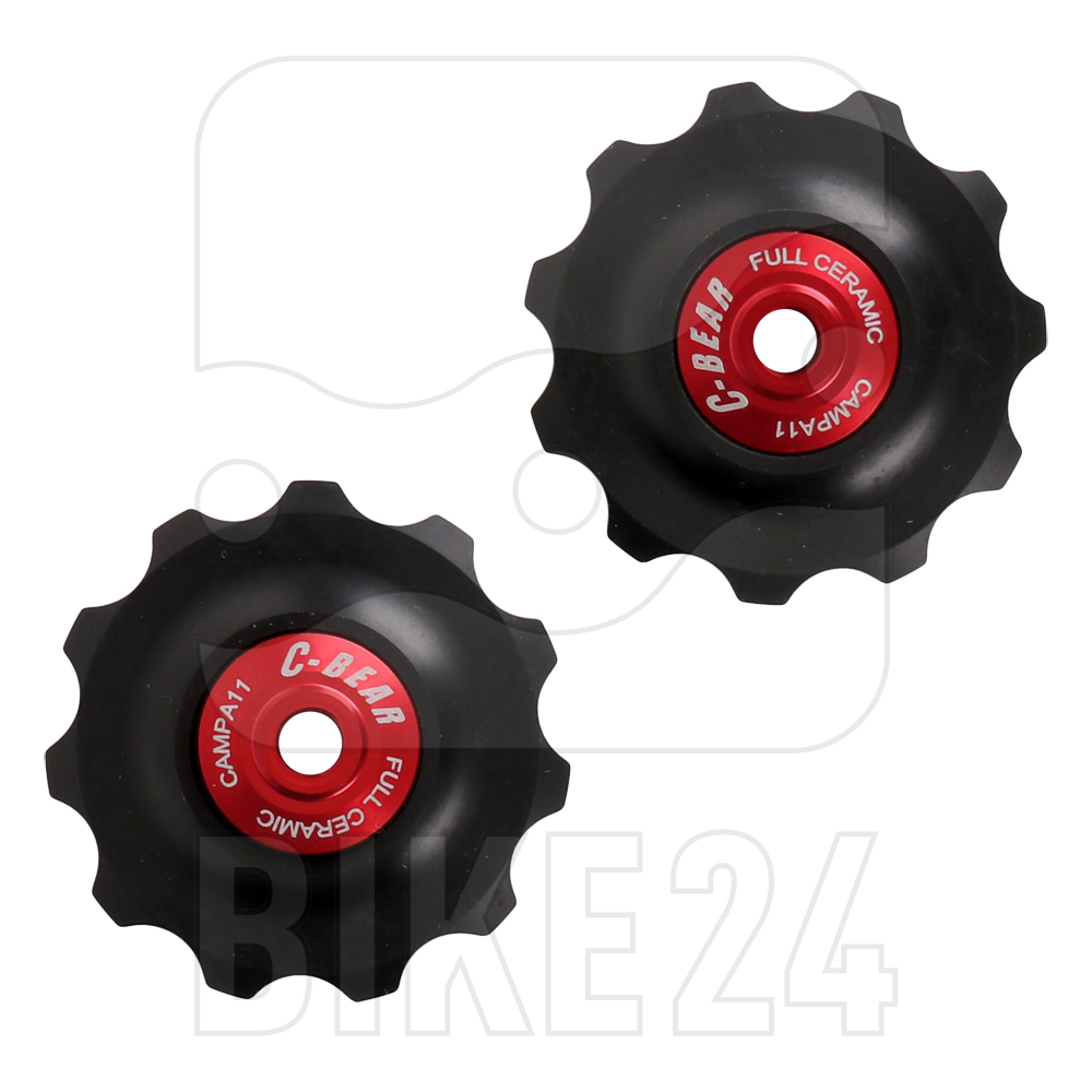 C-Bear Ceramic Bearings Delrin Full Ceramic Pulley Wheels for Campagnolo 11-speed