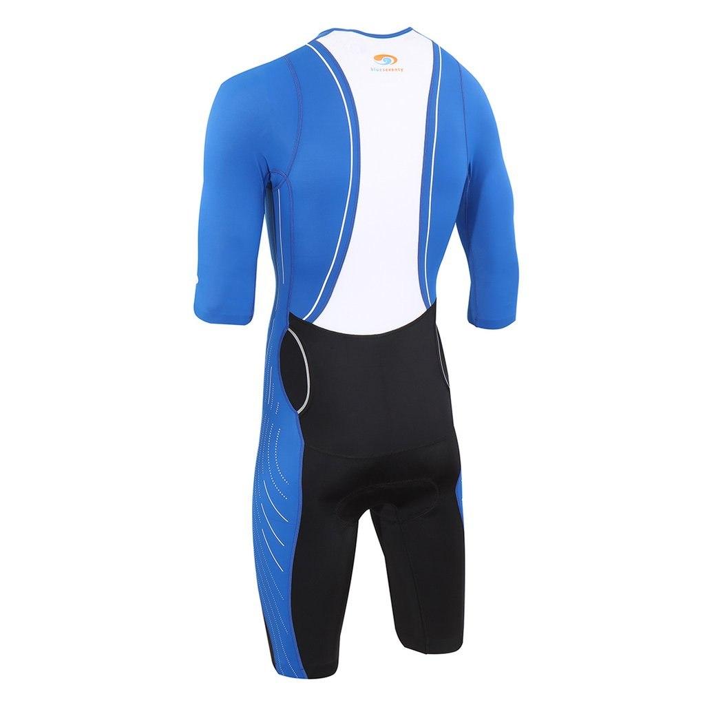 Image of blueseventy TX2000 Short Sleeve Tri Suit - black/blue