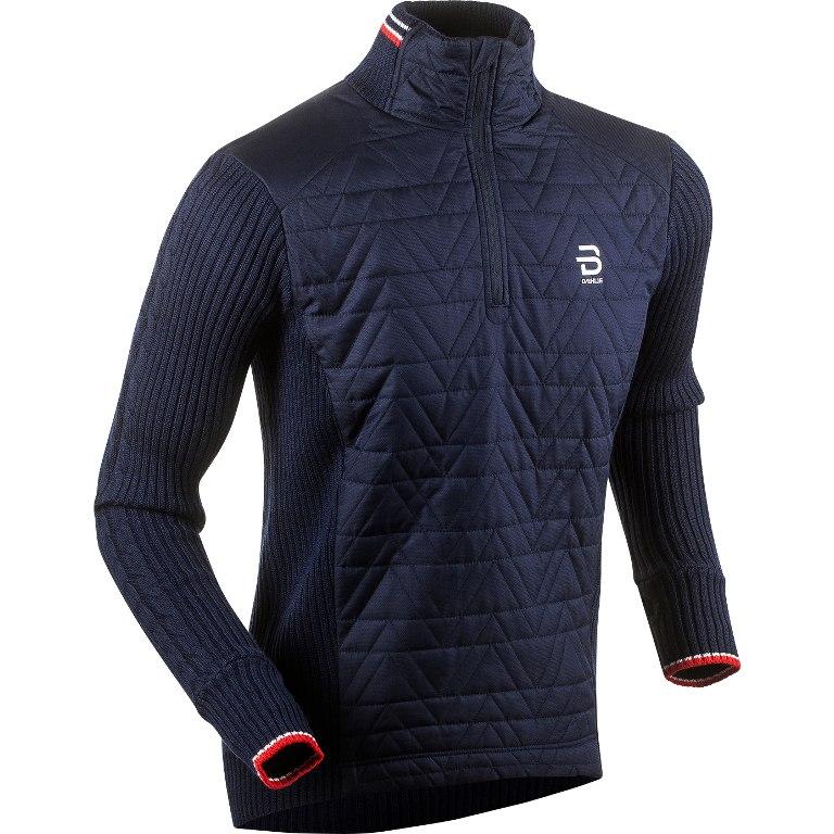 Daehlie Half Zip Comfy Sweatshirt - Evening Blue 25100