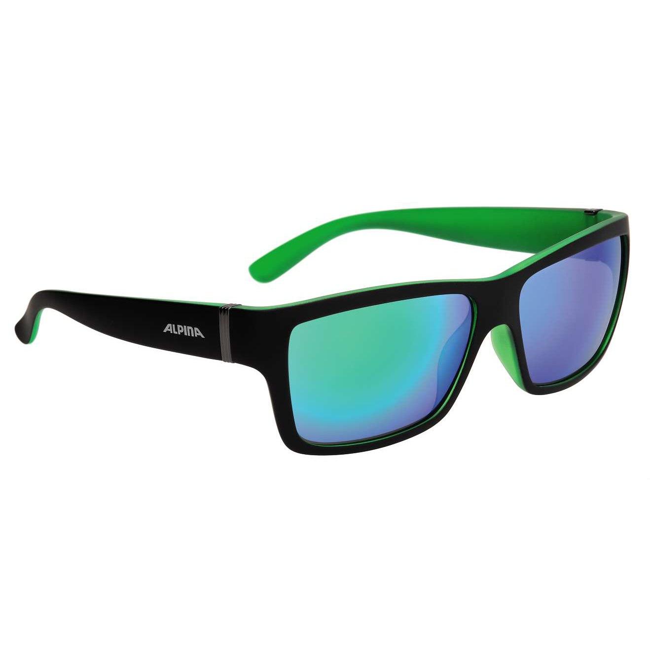 Alpina Kacey Glasses - Black Matt-Green/CeramiC Mirror Green