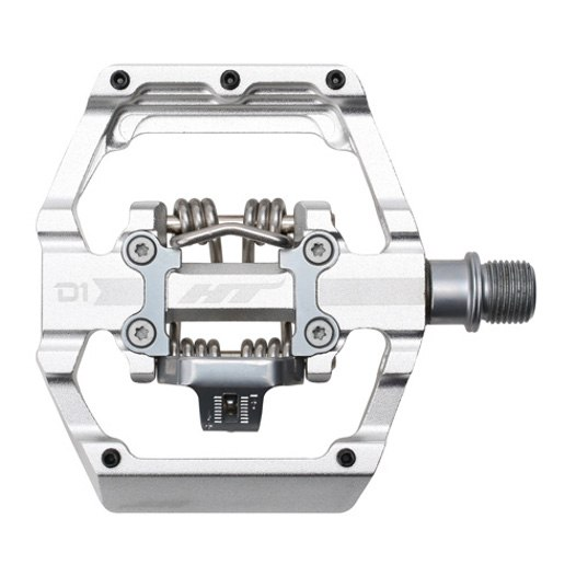 Produktbild von HT D1 DUO Klickpedal / Flatpedal - silber