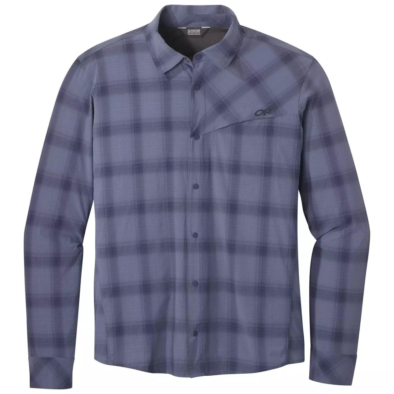 Outdoor Research Men's Astroman L/S Sun Shirt - steel blue