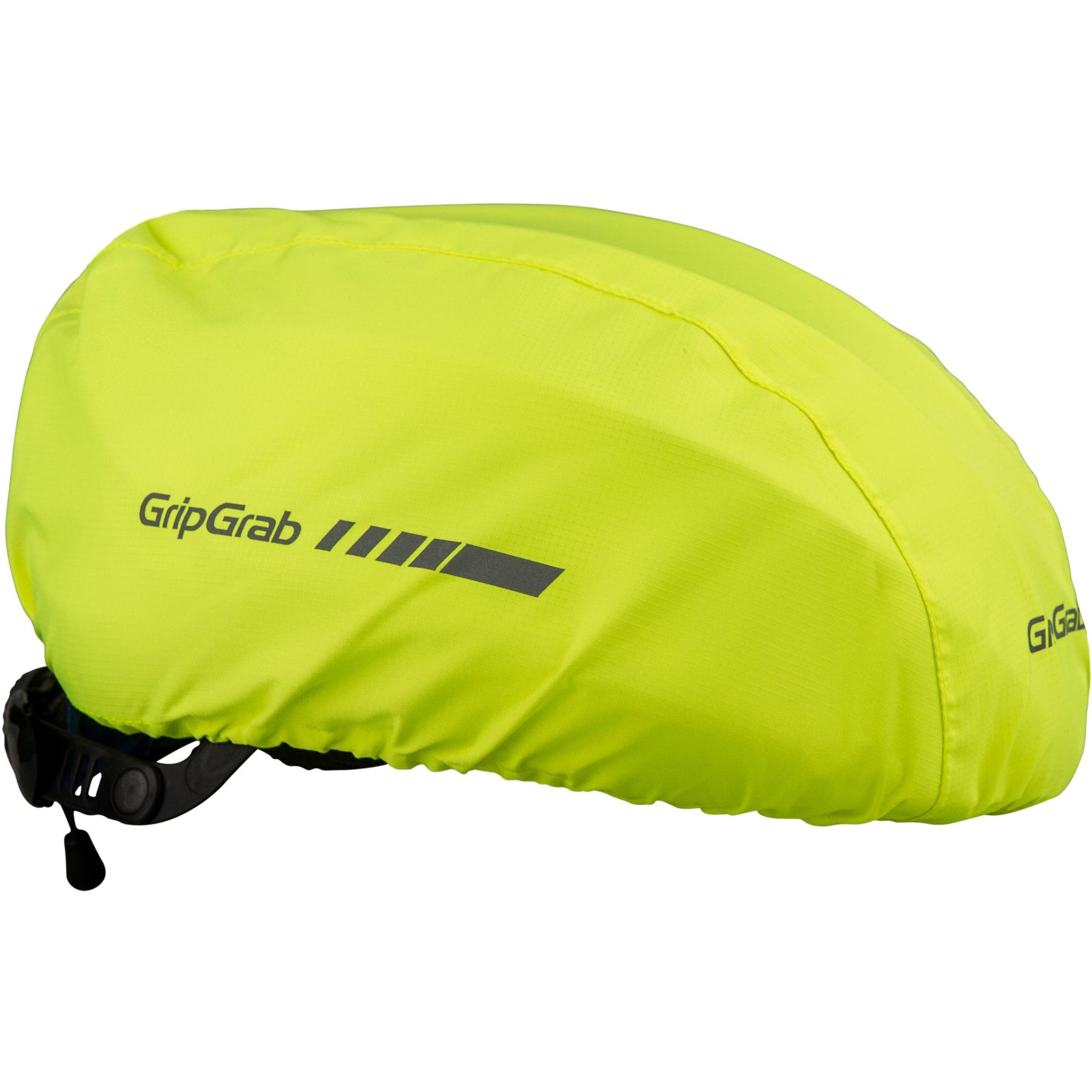 GripGrab Waterproof Hi-Vis Helmet Cover - Yellow Hi-Vis