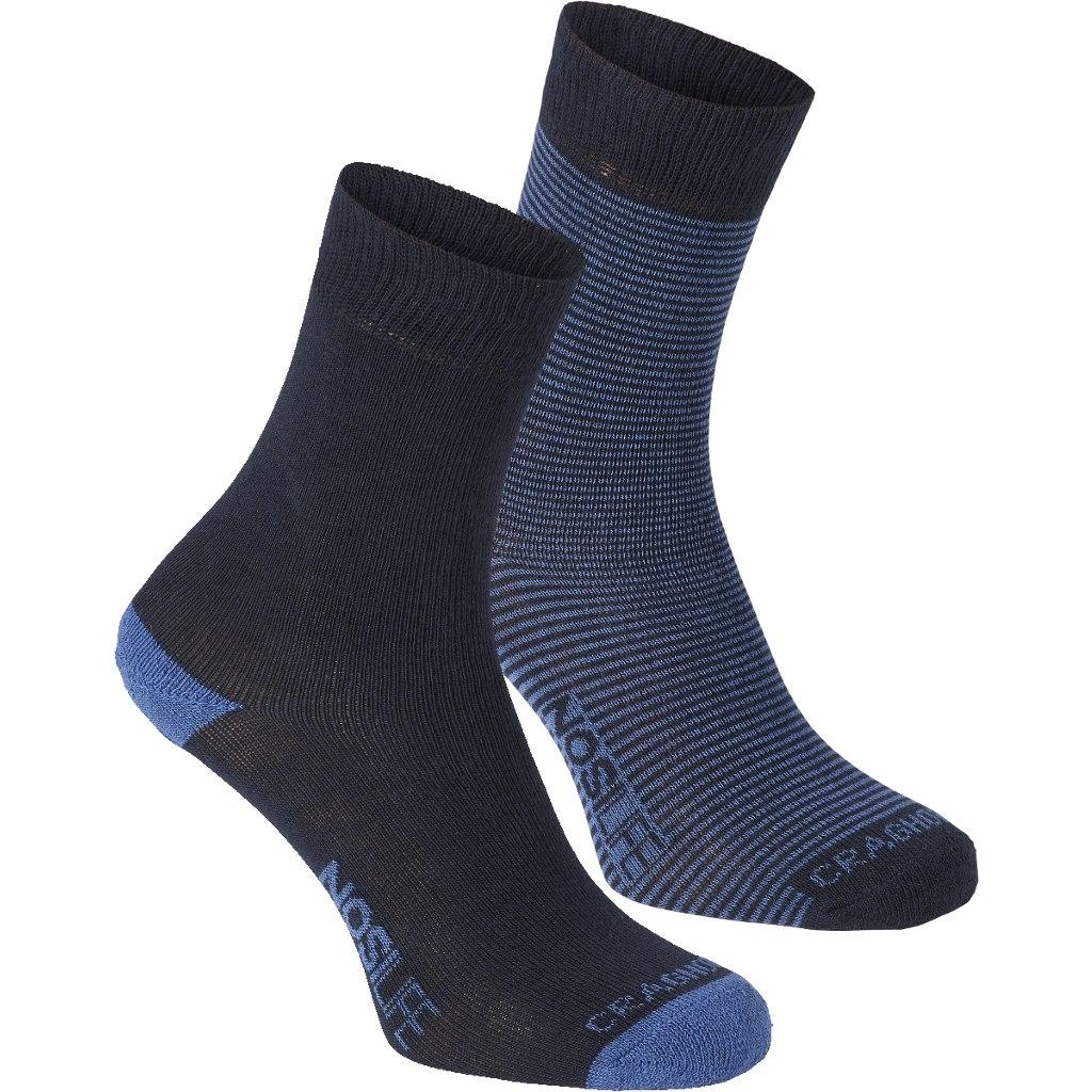 Craghoppers Women's NosiLife Twin Pack Socks - Dark Navy / Soft Denim