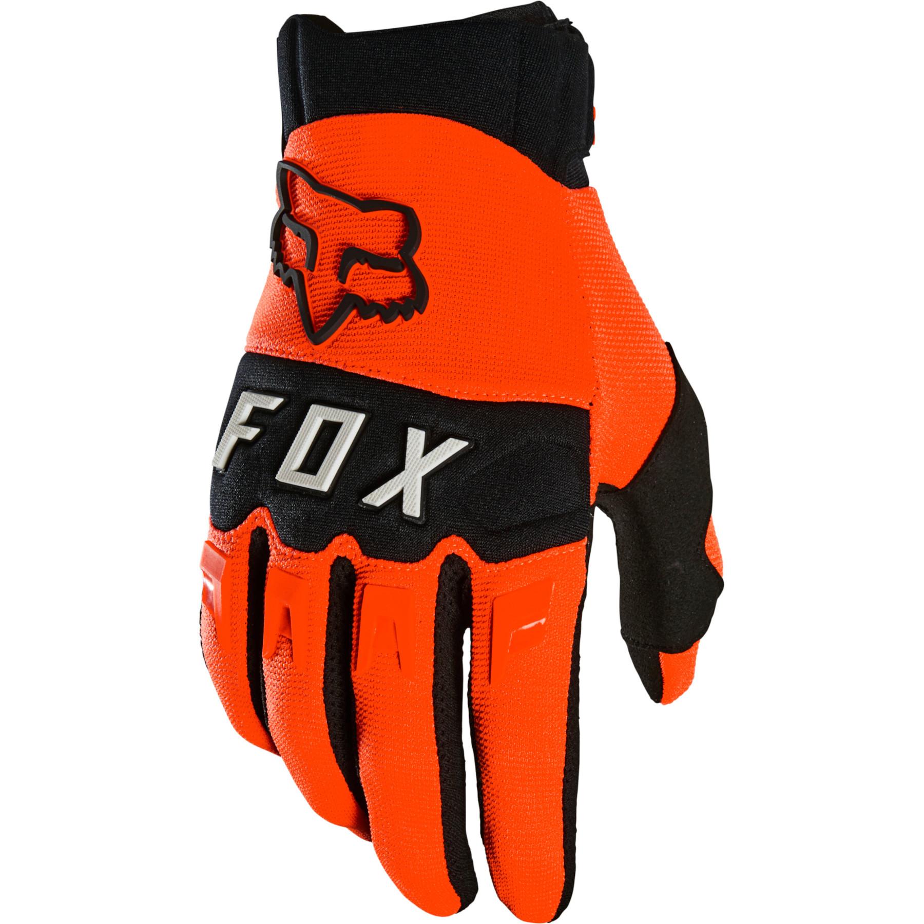 FOX Dirtpaw MTB Full Finger Gloves - flo orange