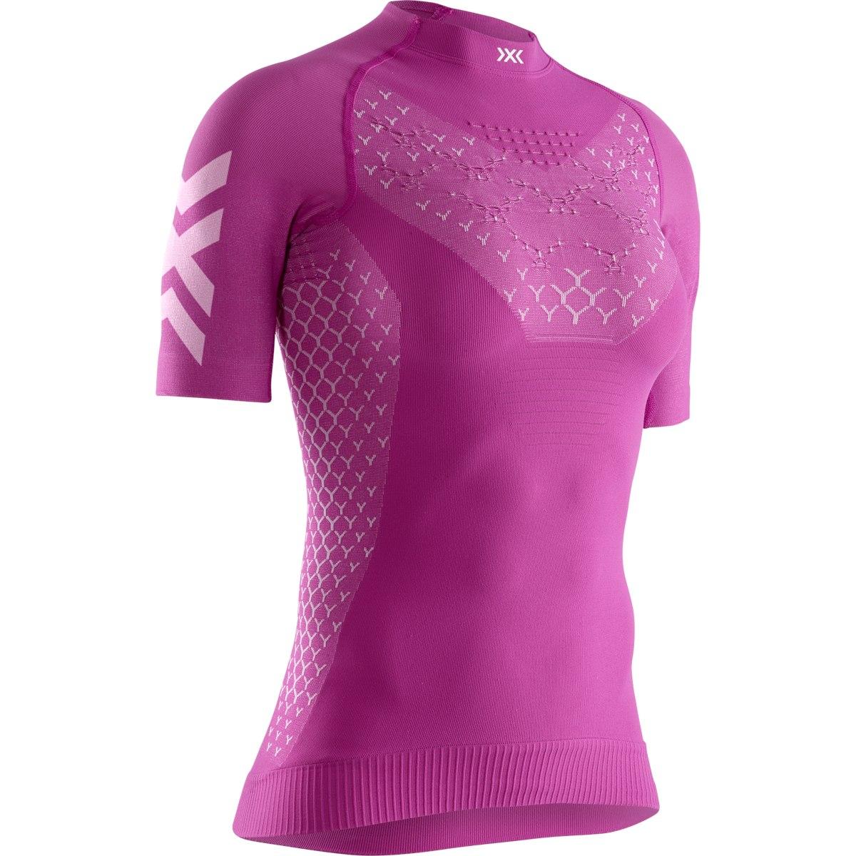 X-Bionic TWYCE 4.0 Run Camiseta Mujer - twyce purple/arctic white