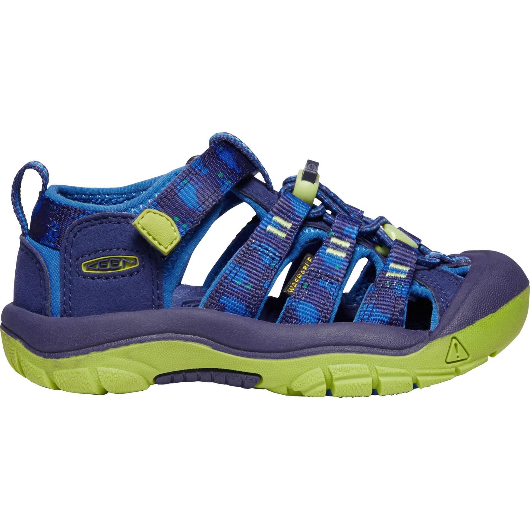 KEEN Newport H2 Kinder-Sandale - Blue Depths / Chartreuse