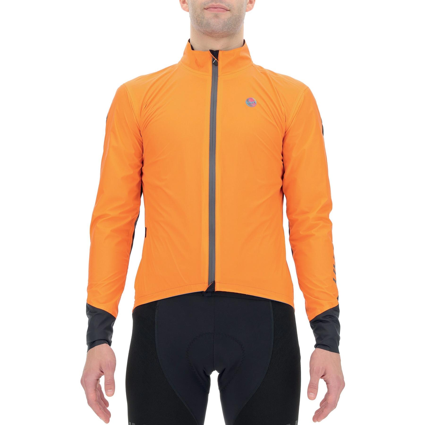 Image of UYN Biking Packable Aerofit Jacket - Orange/Black