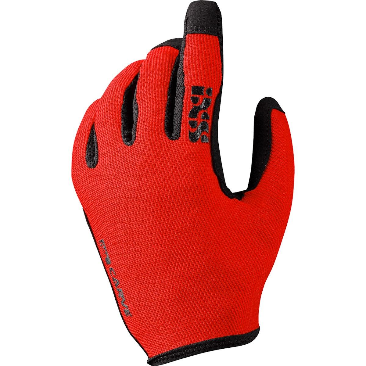 iXS Carve Vollfinger-Handschuhe - fluor red