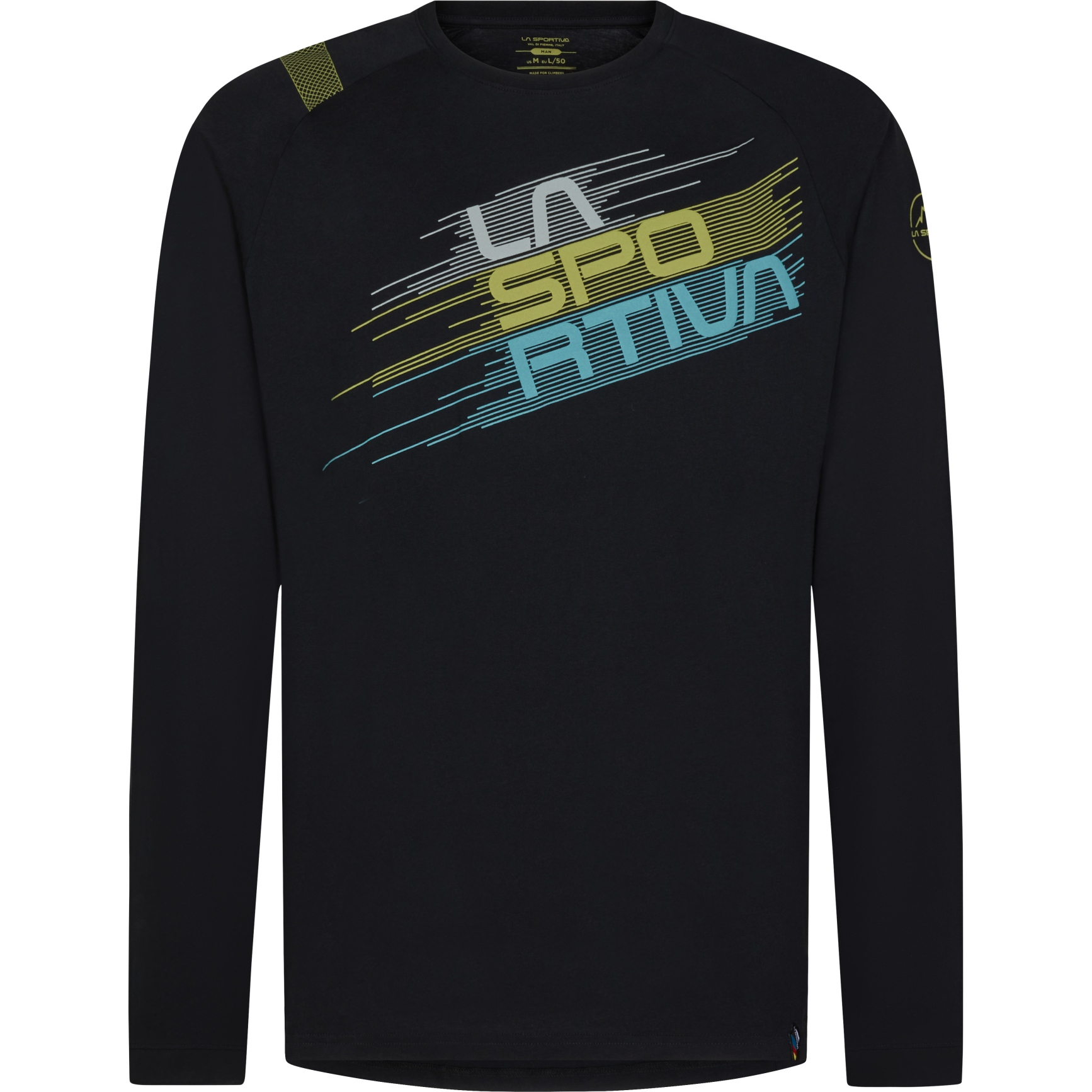 La Sportiva Stripe Evo Langarmshirt - Schwarz