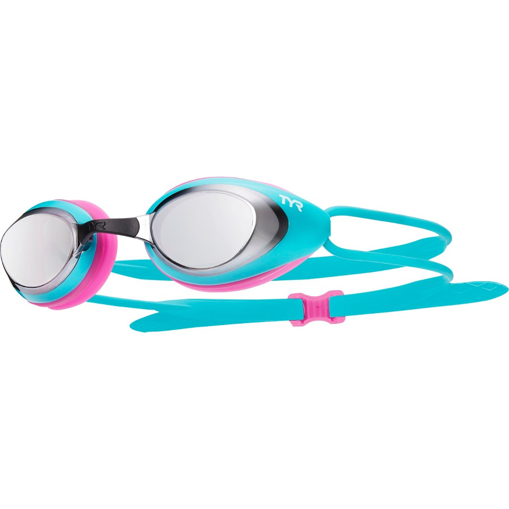 TYR Blackhawk Racing Mirrored Women Fit Swimming Goggles - silver/turquoise/pink