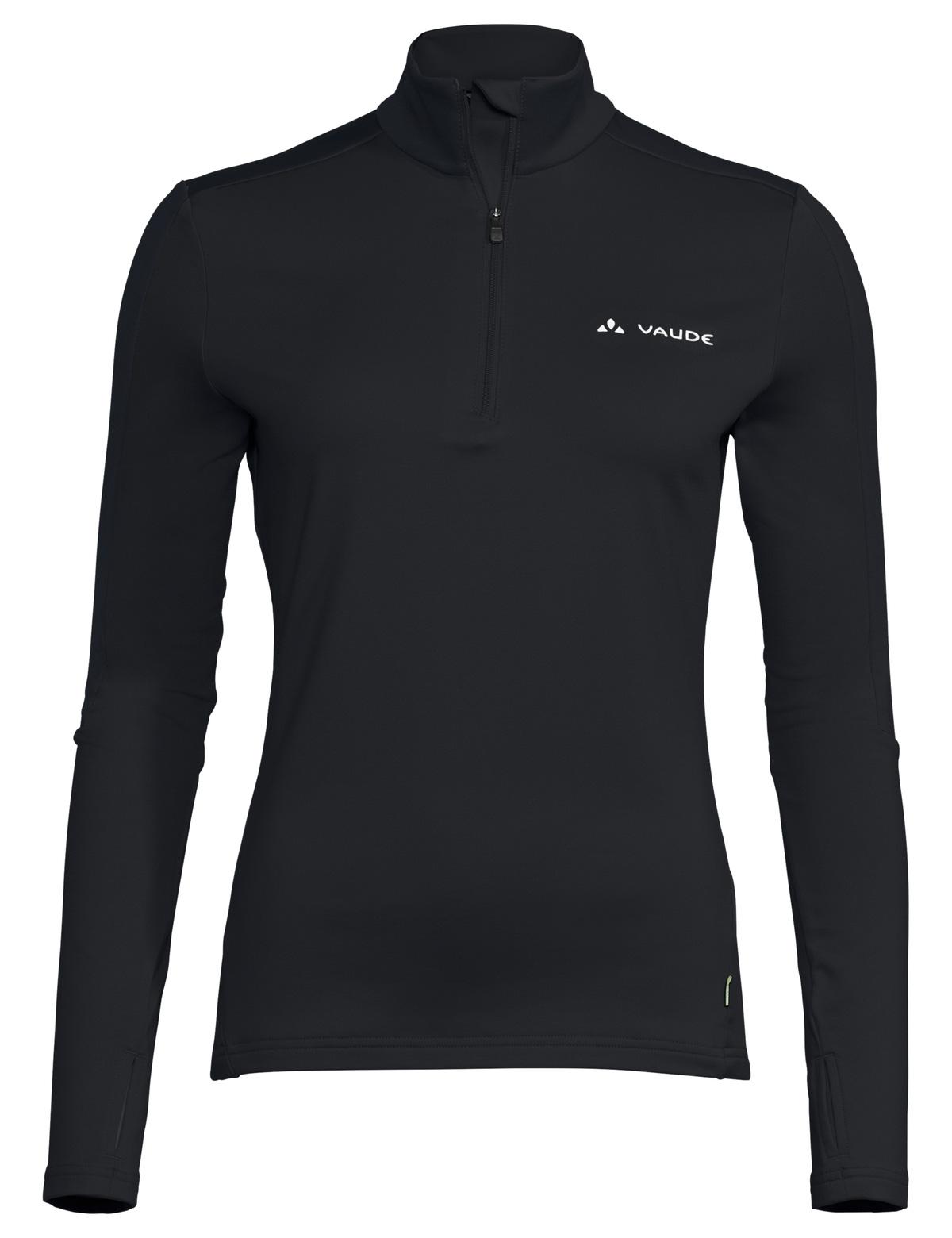 Vaude Livigno Halfzip II Damen Shirt - schwarz