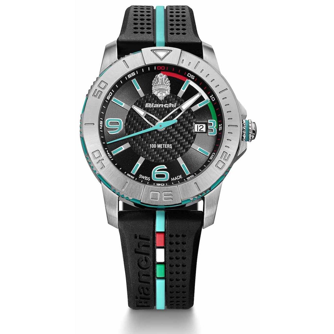 Bianchi Three Hands Wrist Watch - Black