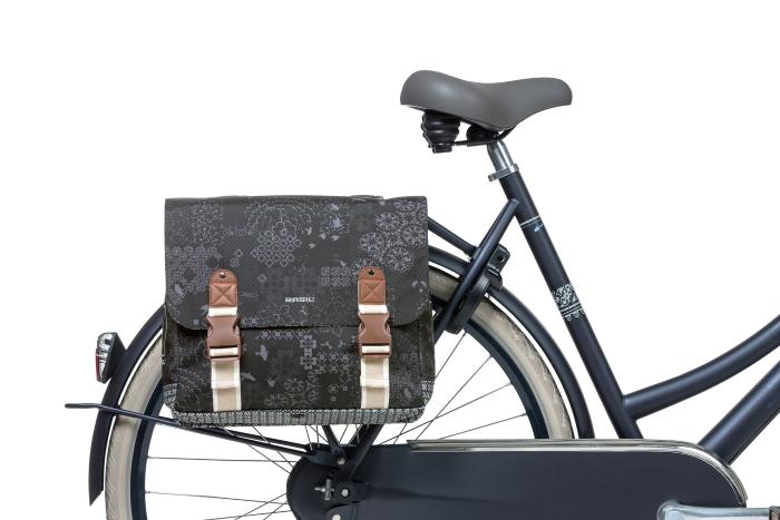 Bild von Basil Bohème Double Bag Fahrradtasche - charcoal