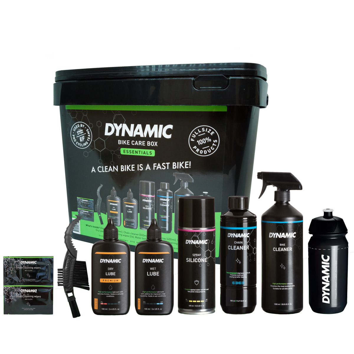 Dynamic Bike Care Box - Fahrradpflege-Set 10-teilig