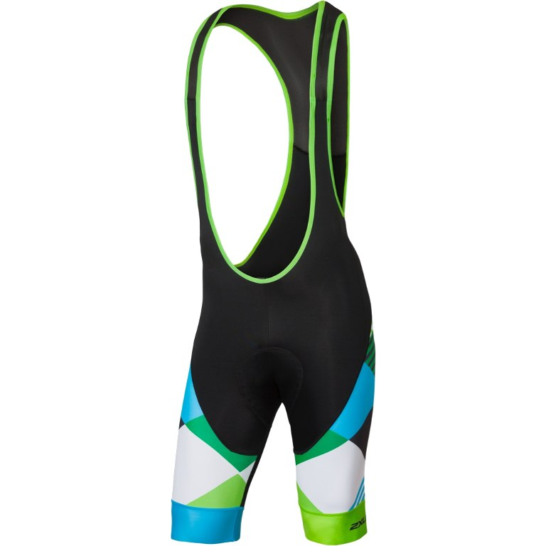 Imagen de 2XU SUB Cycle Bib Shorts MC4909b - black/green shapemania