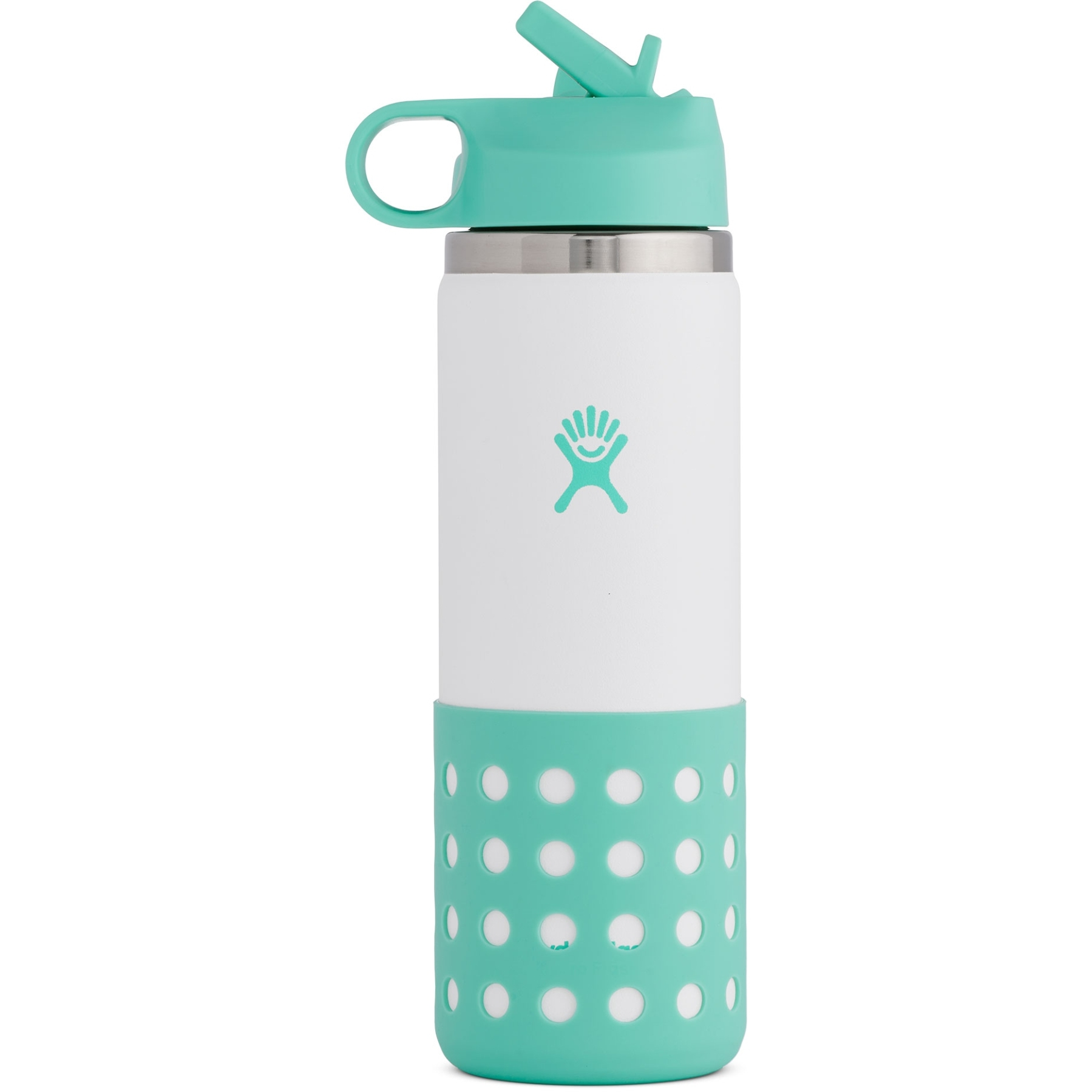 Hydro Flask 20 Oz Kids Wide Mouth Straw Lid & Boot Thermoflasche - 591 ml - Island