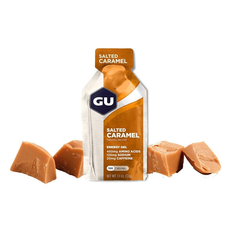 Image of GU Salty Promotion Package - 16x Energy Gels + Electrolyte Drink Tabs + Free Bottle 600ml