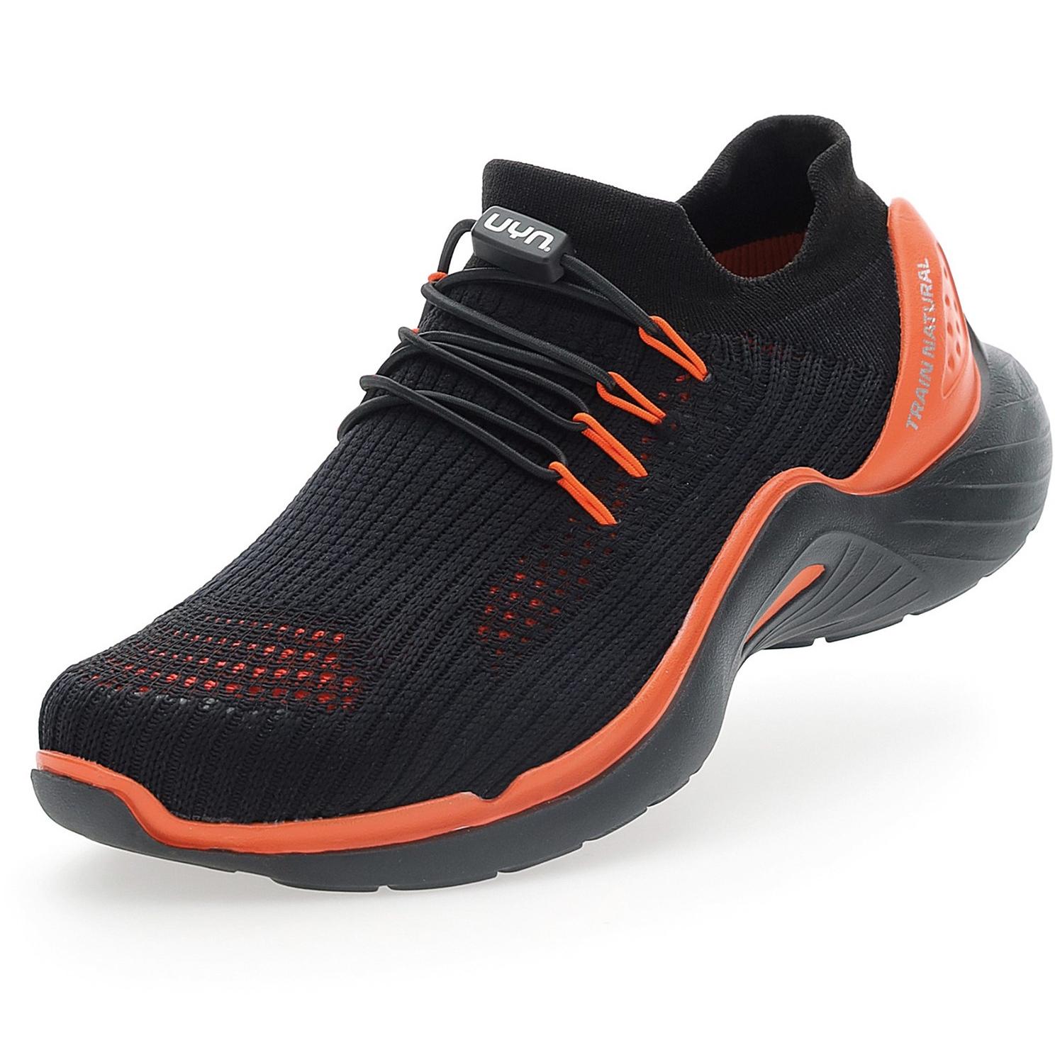 UYN City Running Black Sole Schuhe - Schwarz/Orange