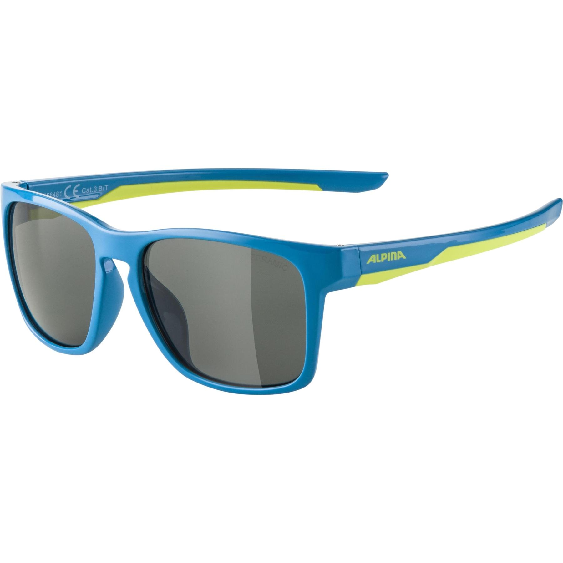 Alpina Flexxy Cool Kids I Glasses - blue-lime / black
