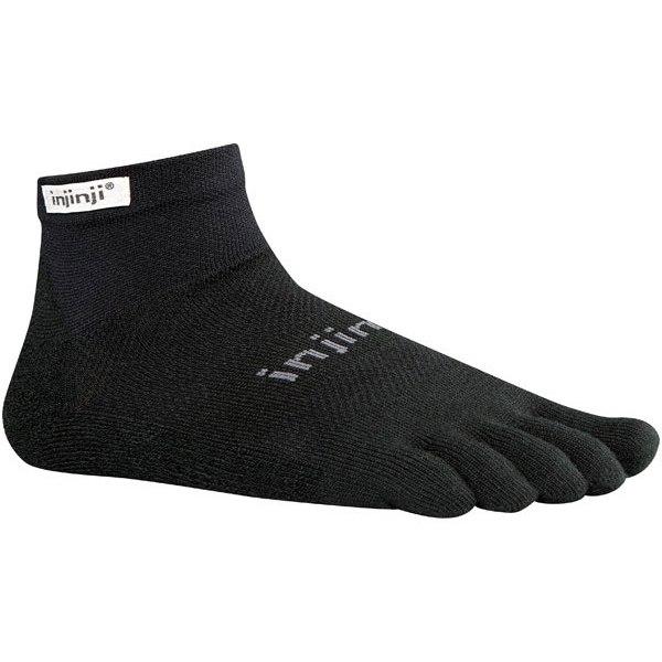 Injinji Run Lightweight Mini-Crew Socks - black