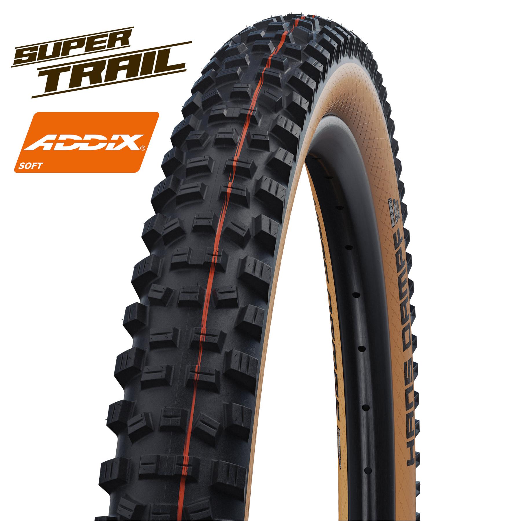 Picture of Schwalbe Hans Dampf Evolution MTB Folding Tire - AddixSoft - SuperTrail - TLEasy - E-25 - 29x2.6 Inches - Classic-Skin