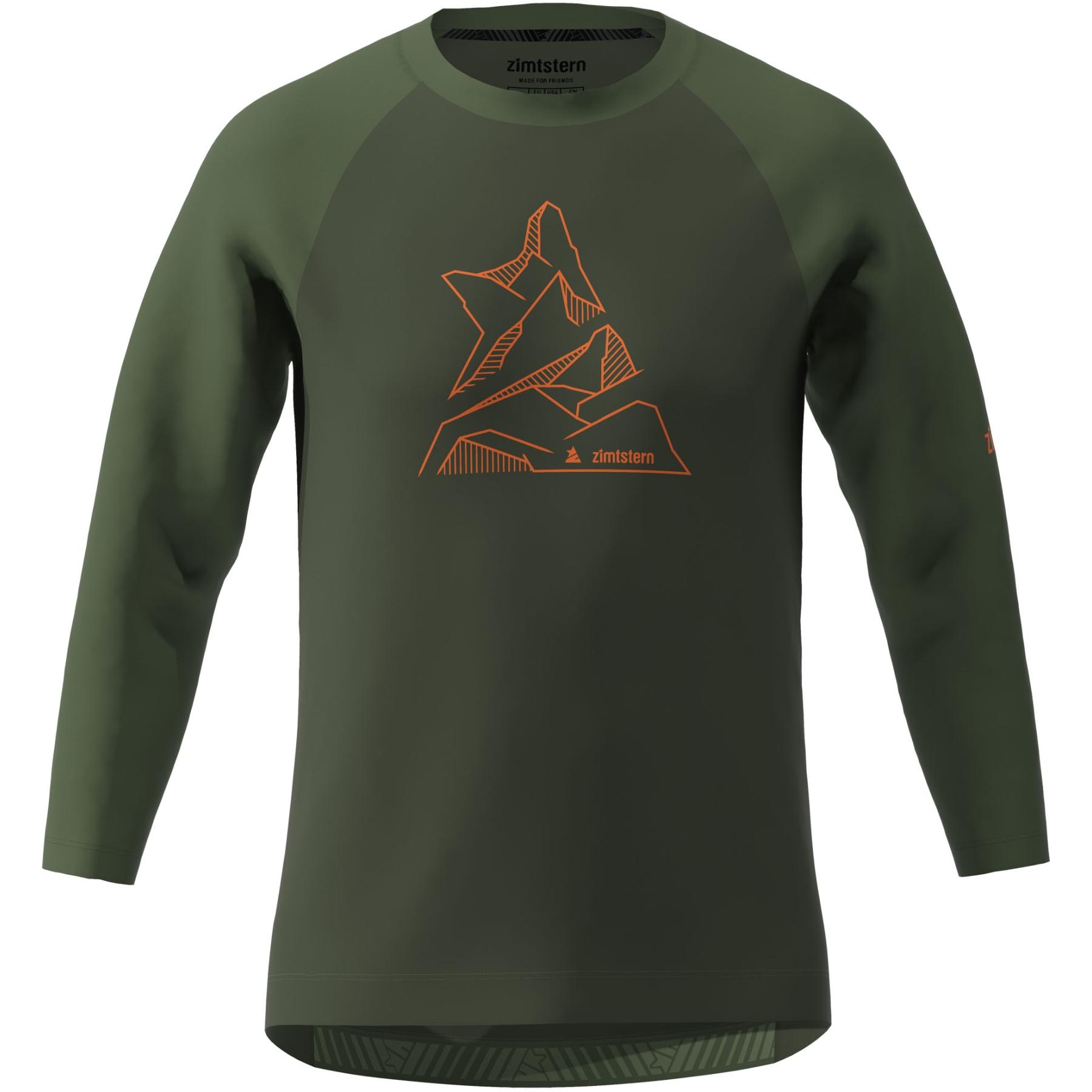 Bild von Zimtstern PureFlowz 3/4 Shirt - forest night/bronze green