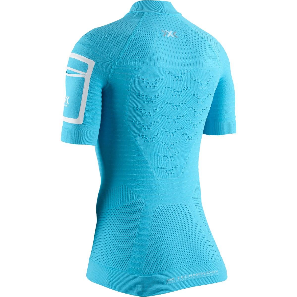 Bild von X-Bionic Effektor 4.0 Trail Run 1/2 Zip Kurzarm-Laufshirt für Damen - effektor turquoise/arctic white