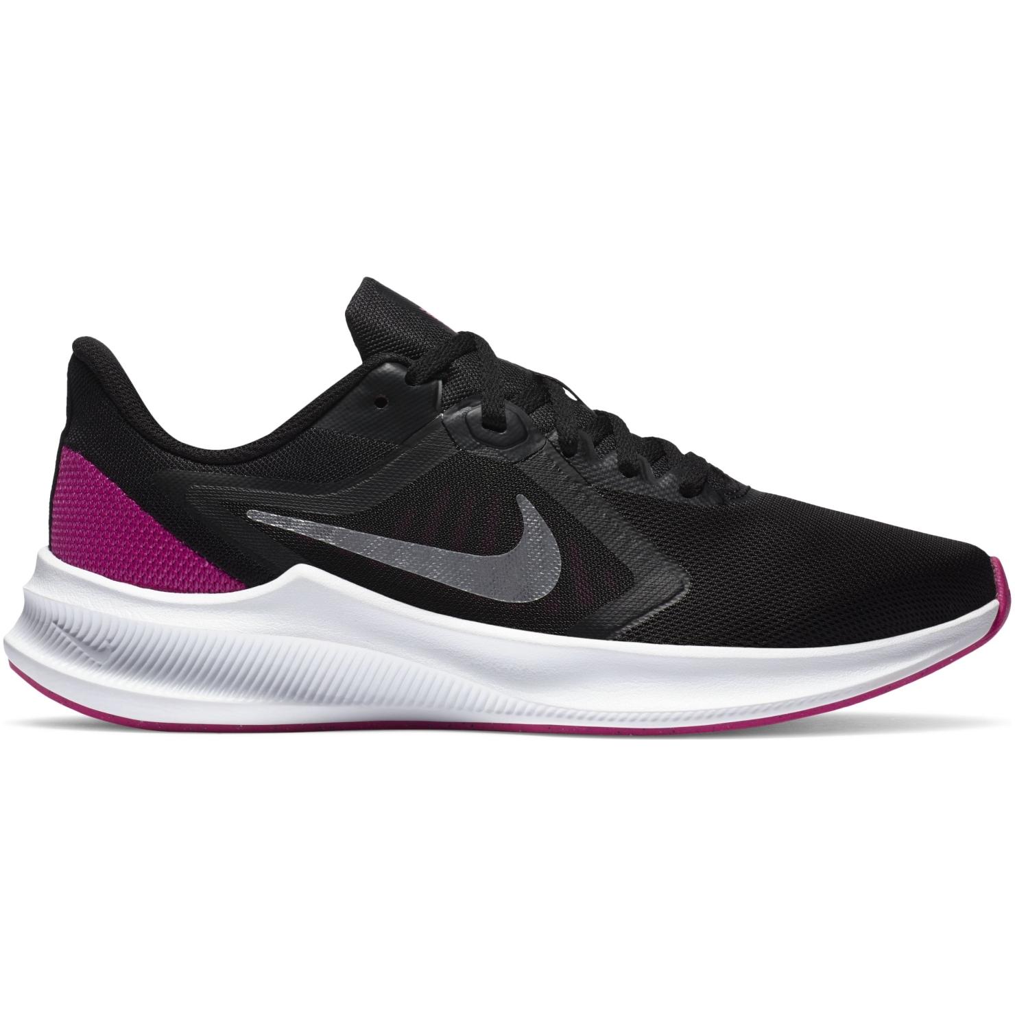 Nike Downshifter 10 Women's Running Shoe - black/metallic silver-fire pink CI9984-004