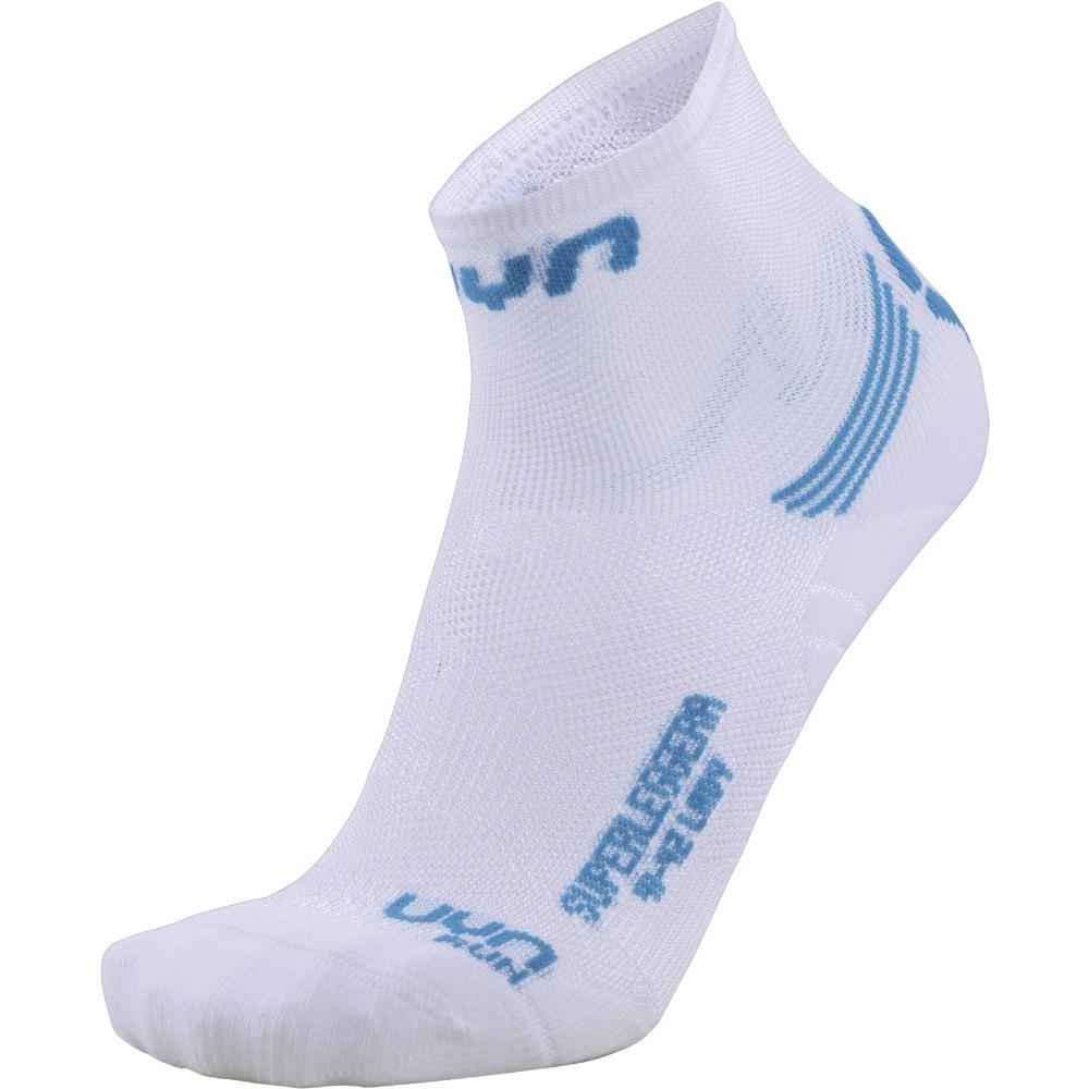 UYN Run Superleggera Socks Women - White/Turquoise