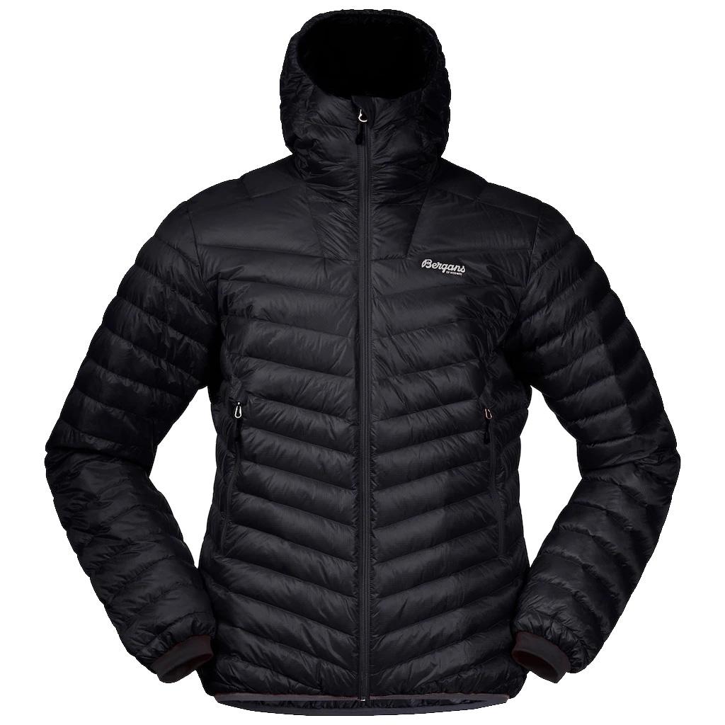 Bergans Senja Down Light Jacket with Hood - black/solid dark grey
