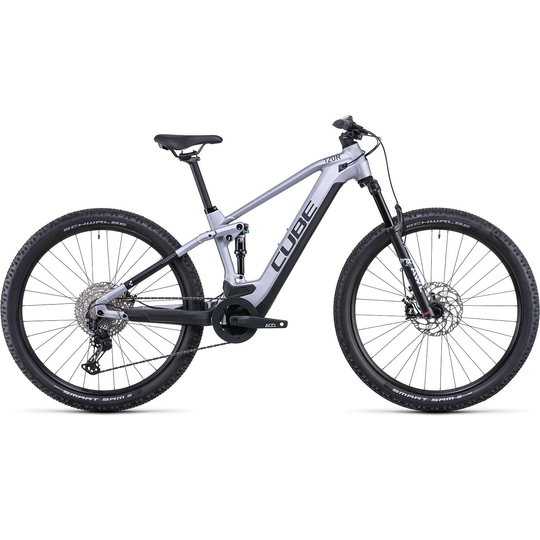 Produktbild von CUBE STEREO HYBRID 120 Race 625 - MTB E-Bike - 2022 - polarsilver/black A00