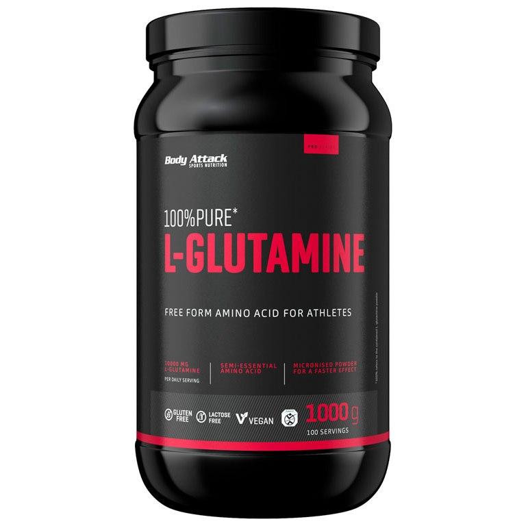Body Attack 100% Pure L-Glutamic Acid - Beverage Powder - 1000g Can