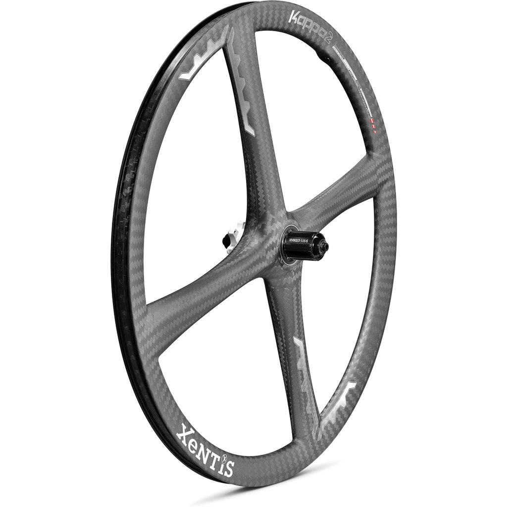 Xentis Kappa2 MTB - 27.5 Zoll Carbon Hinterrad - 6-Loch - QR - matt schwarz / weiß