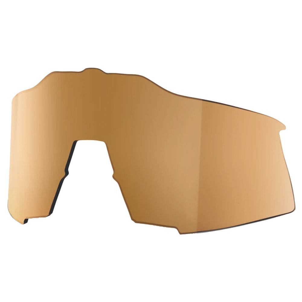 100% Speedcraft Tall Mirror Lente de repuesto - Flash Gold Mirror