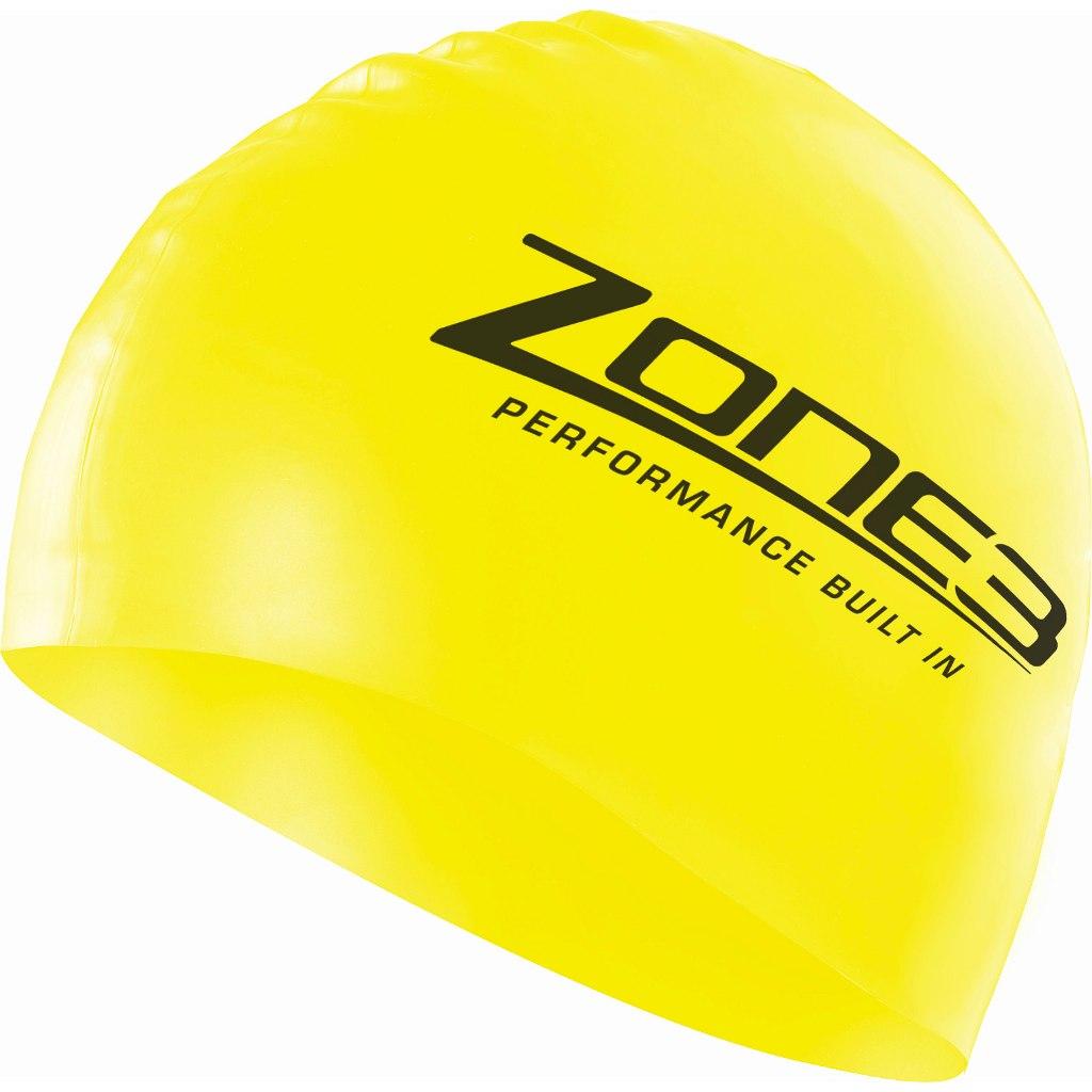 Zone3 Silikon Badekappe - neon gelb
