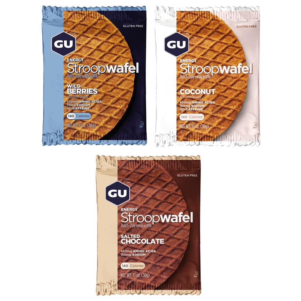 GU Stroopwafel - Carbohydrate Syrup Waffle - 8x30g