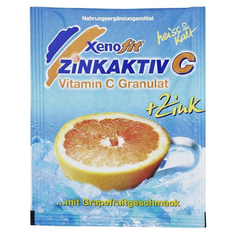 Bild von Xenofit Zinkaktiv C - Vitamin C + Zink Getränke-Granulat - 10x9g
