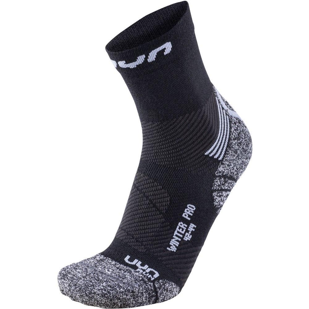 UYN Man Running Winter Pro Run Socken - Black/Pearl Grey