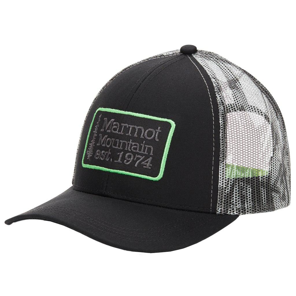 Marmot Retro Trucker Hat - black/racing stripes