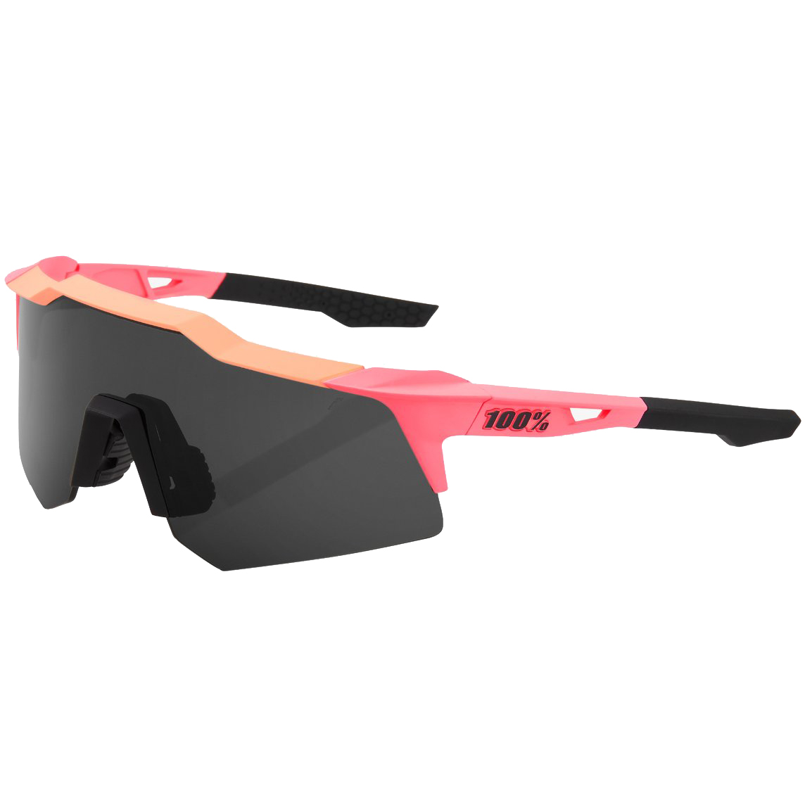 Imagen de 100% Speedcraft - XS - Gafas - Matte Washed Out Neon Pink/Smoke Lens + Clear