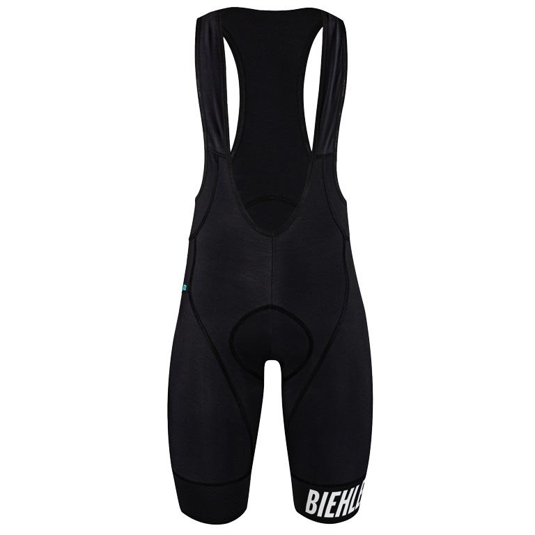 Biehler Men Neo Classic Thermal Rain Bib Shorts Wetterfest - black