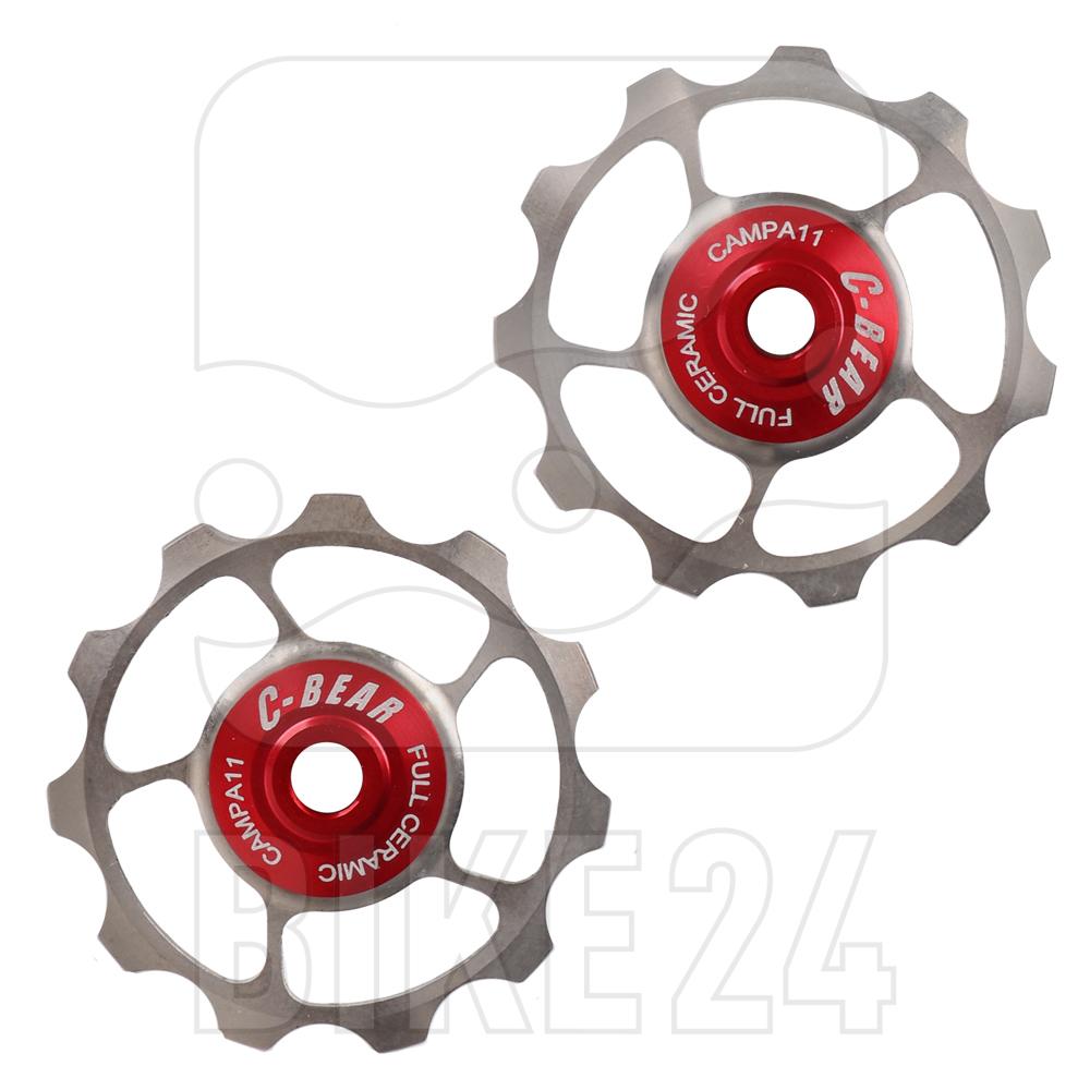 C-Bear Ceramic Bearings Titanium Full Ceramic Pulley Wheels for Campagnolo 11-speed