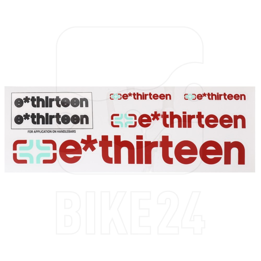 e*thirteen Handlebar Decal Kit & Sticker Pack - doom grey