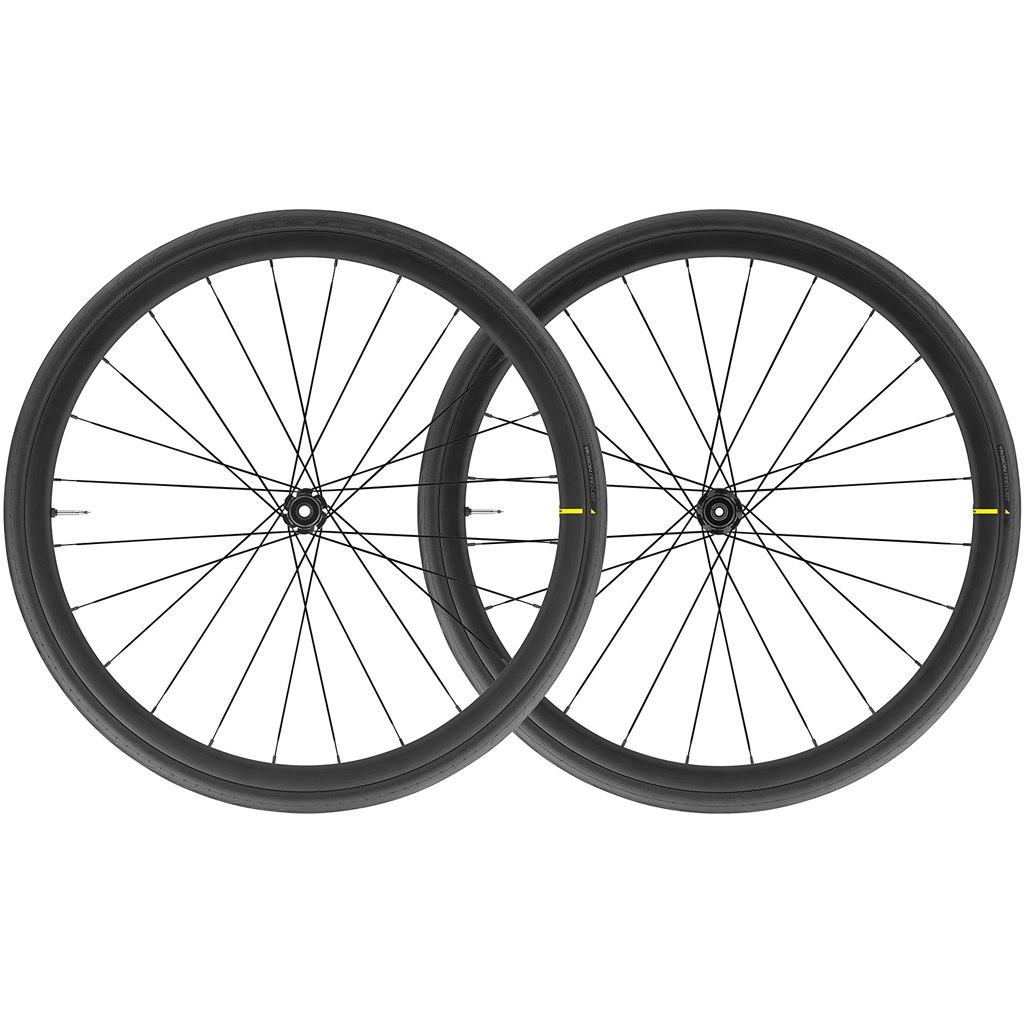 Mavic Cosmic Elite UST Disc WTS Wheelset with Yksion Pro UST Folding Tires - Centerlock - FW: 12x100mm/QR | RW: 12x142mm/QR