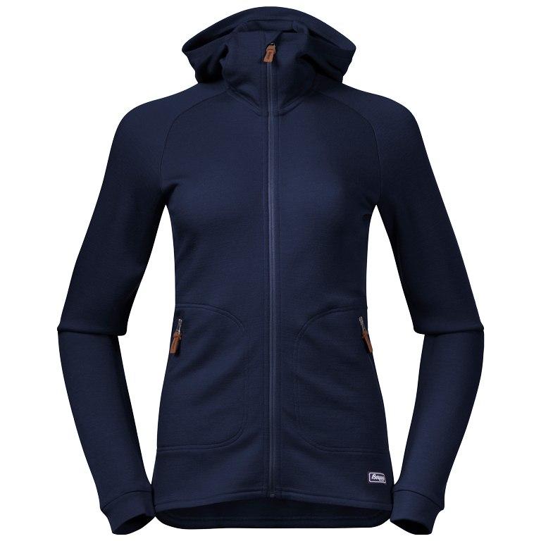 Bergans Tuva Light Wool Hood Women's Jacket - navy