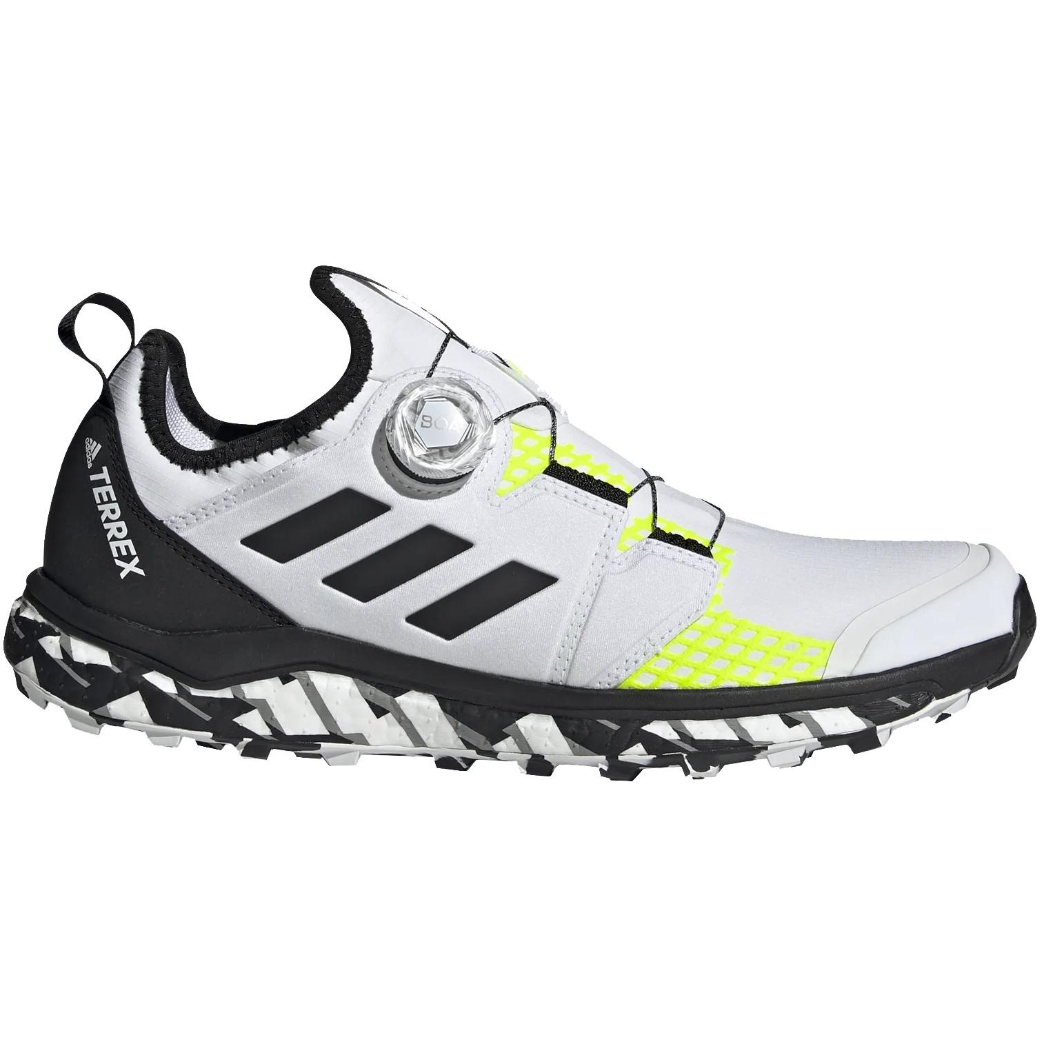 adidas TERREX Agravic Boa Trail Running Zapatillas para Hombre - non dyed/core black/solar yellow FY9456