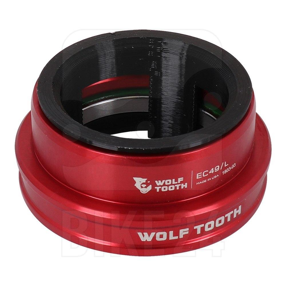 Bild von Wolf Tooth Precision EC Steuersatz Unterteil - EC49/40 - rot
